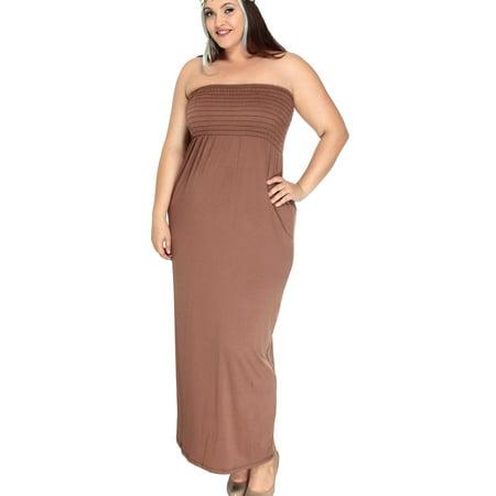 c59cc099f31f Simplicity - Plus Size Stretch Empire Waist Maxi Dress
