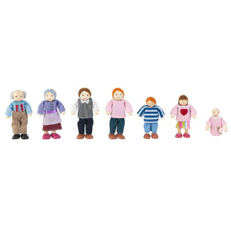 Kidkraft doll family with 7 dolls, red hair