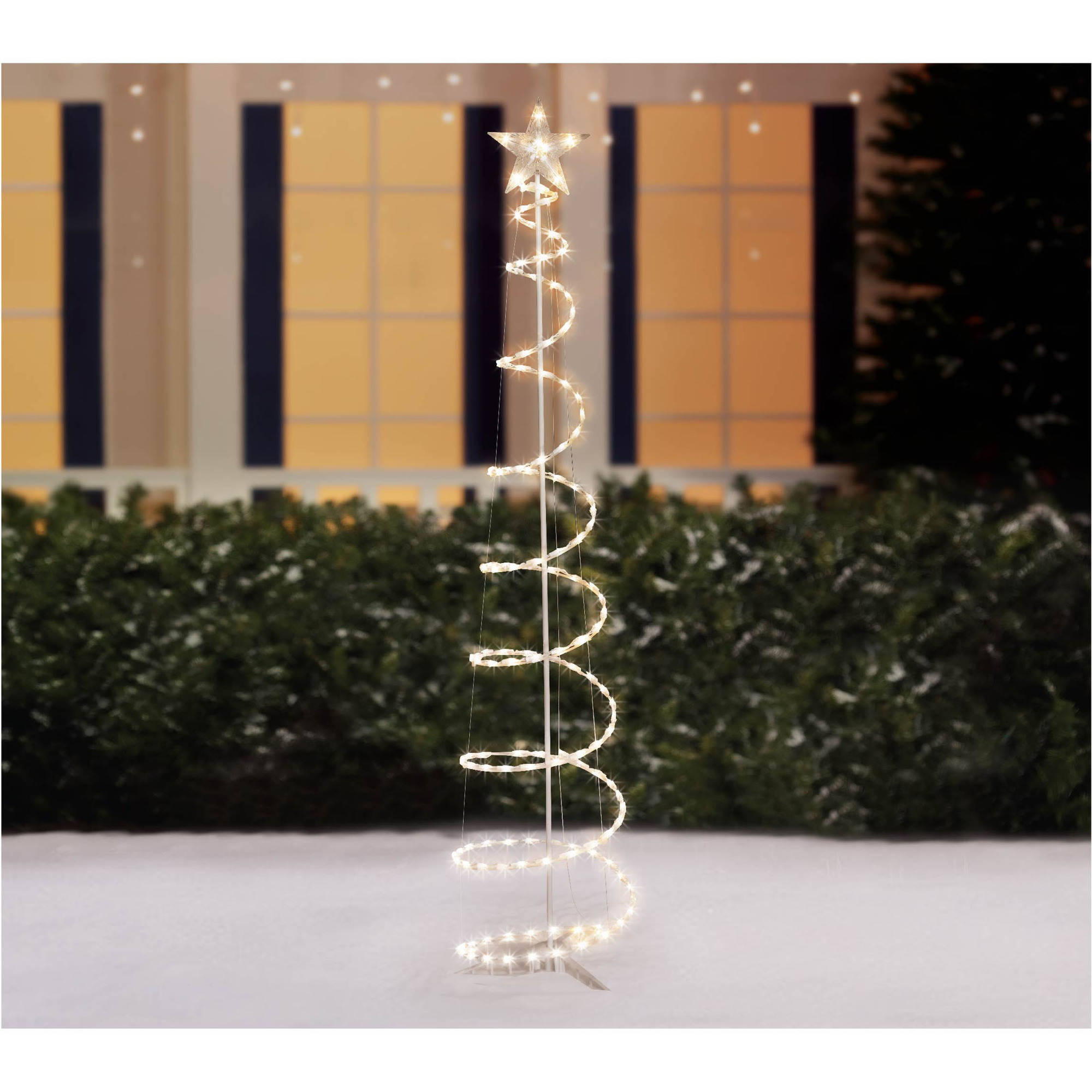 Holiday Time 6' Lighted Spiral Christmas Tree Sculpture, Clear