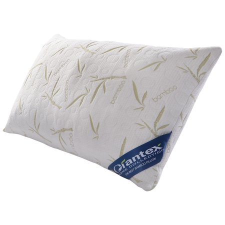 Set of 2 Queen Size Bamboo Shred Memory Foam Hypoallergenic Pillow Carry Bag - image 1 de 9