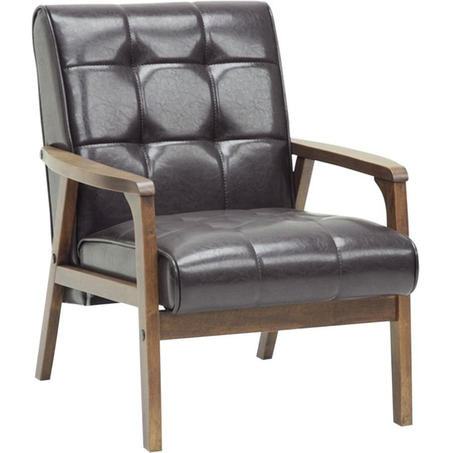 Baxton Studio Mid-Century Masterpieces Club Chair Brown by Baxton Studio