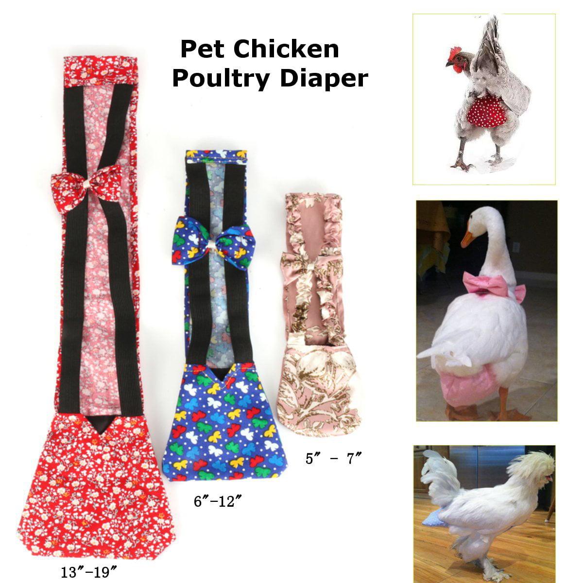 1Pc 3 Sizes Small/Medium/XL Goose Duck Chicken Poultry Cloth Diaper Pet Adjustable Farm