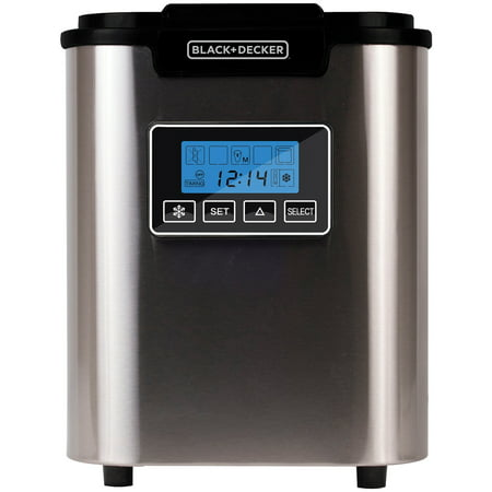 BLACK+DECKER BIMY126S 26-lb Capacity Stainless Steel Ice Maker (560 Lb Ice)