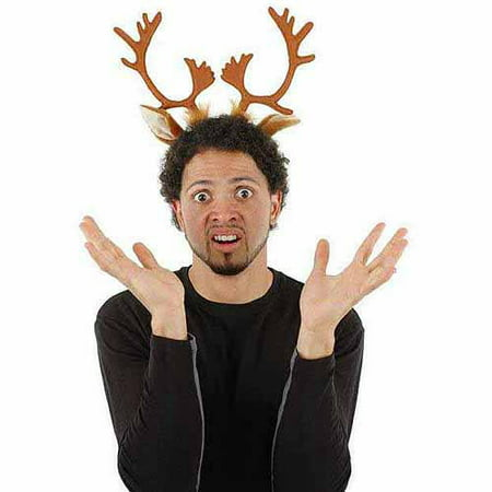 Reindeer Antlers Headband Adult Halloween Costume Accessory - Falling Head Costume
