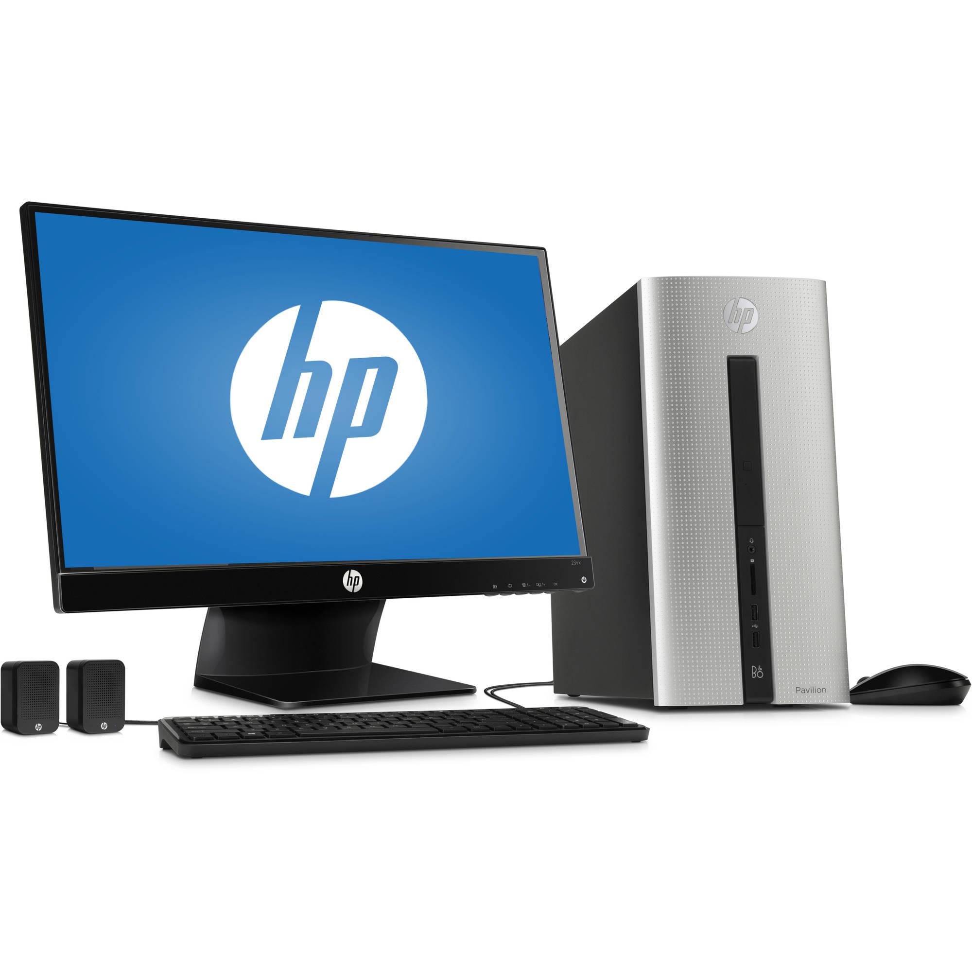 Hp Pavilion 550 153wb Desktop Pc With Intel Core I3 4170 Dual Processor 6gb Memory 23 Monitor 1tb Hard Drive And Windows 10 Home