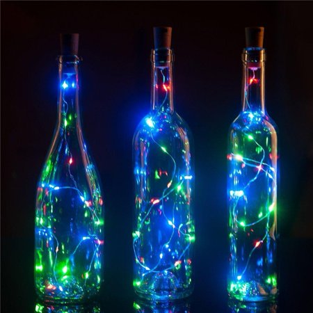 BULK PACK (3) Fantado 20-LED RGB Cork Wine Bottle Lamp Fairy String Light Stopper, 38-Inch by PaperLanternStore