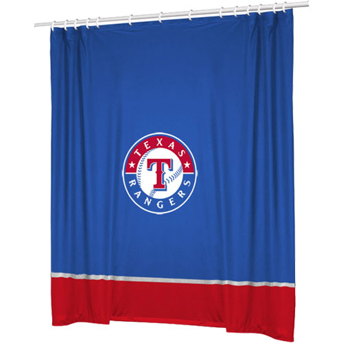 Sports Coverage Inc. MLB Texas Rangers Shower Curtain