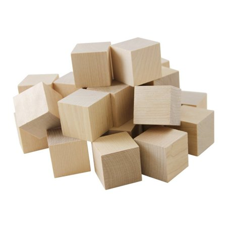 "Wooden Cubes – 1-3/4"" Baby Wood Square Blocks – For Puzzle Making, Crafts, And DIY Projects – 20 Pieces by Woodpecker Crafts ()"