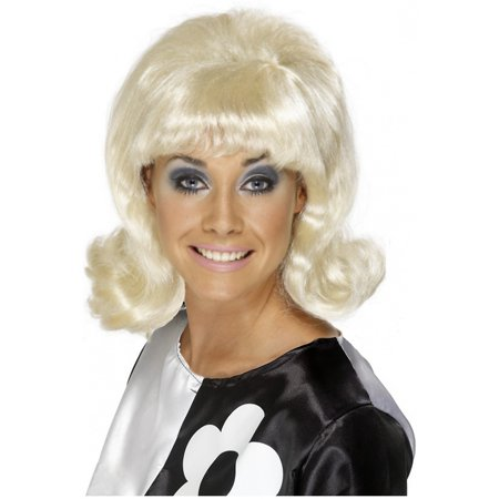 60and#039;s Flick-Up Wig Adult Costume Accessory Blonde
