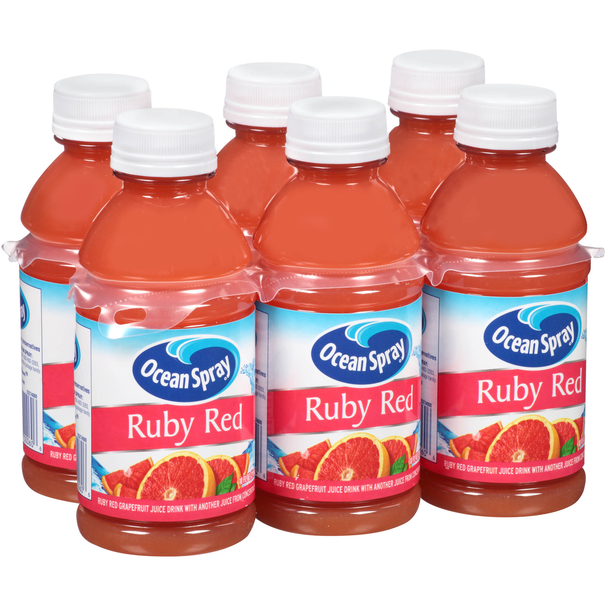 Ocean Spray Ruby Grapefruit Juice, 6 Ct/10 Oz