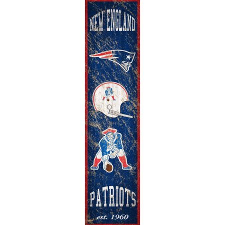 New England Patriots 6'' x 24'' Vertical Heritage Banner Sign - No -