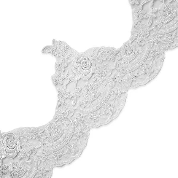 """Expo Int'l 2 yards of Kerri 5 3/4"""" Polyester Embroidered Lace Trim"""