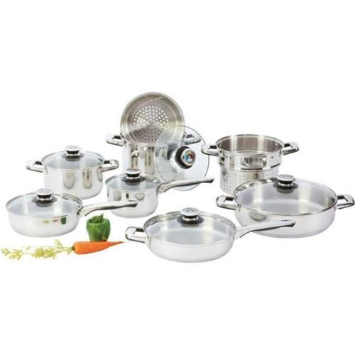 Chef KTS14 Chefs Secret 14pc Heavy-gauge Stainless Steel Cookware Set