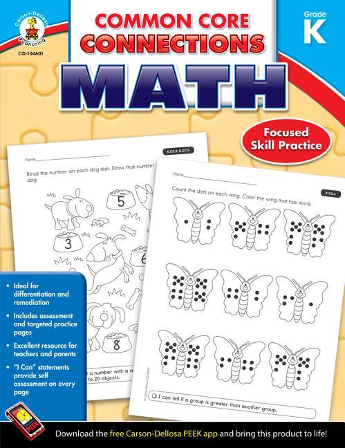 Common Core Connections Math, Grade K - Walmart.com ...