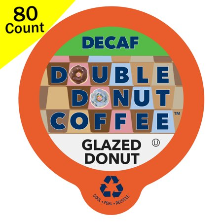 Double Donut, Decaf Glazed Donut Flavored Coffee K-Cups, 80 Ct ()