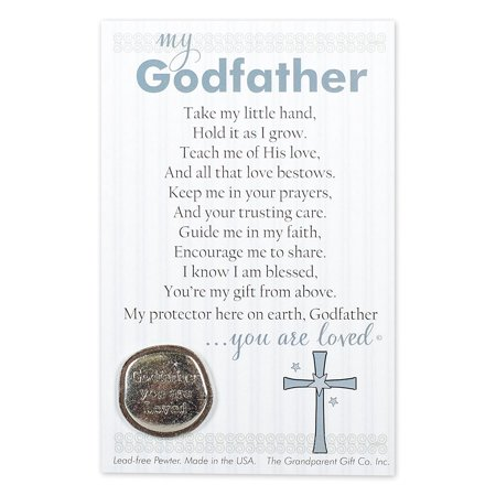 Godfather Gift Handmade Pewter Coin By Grandparent Gift Co