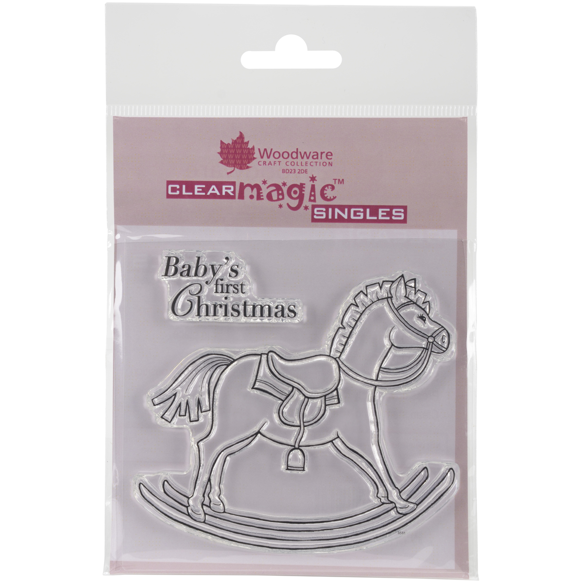 "Woodware Clear Stamps 3.5""X3.5""-Rocking Horse"