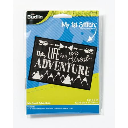 Bucilla My First Stitch 5x7 Great Adventure.