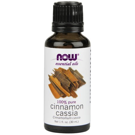 - NOW Essential Oils, Cinnamon Cassia Oil, Warming Aromatherapy Scent, Steam Distilled, 100% Pure, Vegan, 1-Ounce