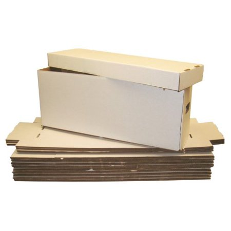 Material Box - Collector's Supply co BCW Long Comic Book Storage Boxes (5 Boxes) - Corrugated Materials - Comic Book Collecting Supplies (Great for All Type of Comics)