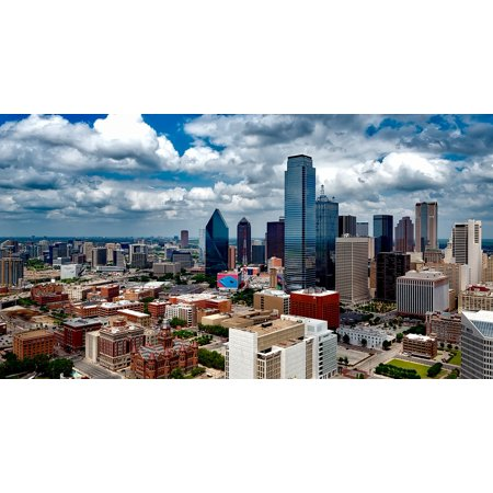 Canvas Print City Dallas Cities Texas Cityscape Skyline Urban Stretched Canvas 10 x 14 (Party City Dallas Texas)