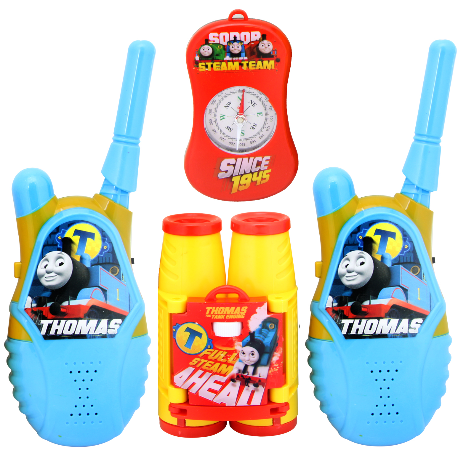 Thomas and Friends 4-Piece Adventure Kit includes One Pair of Walkie Talkies, Binoculars and Compass