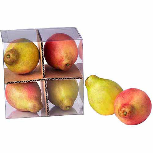 "4.5"" x 3"" French Pears, Set of 4 in Box, Pack of 48"