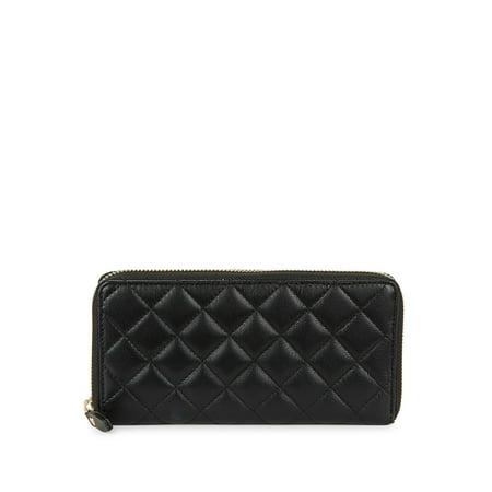 Quilted Zip-Around Wallet