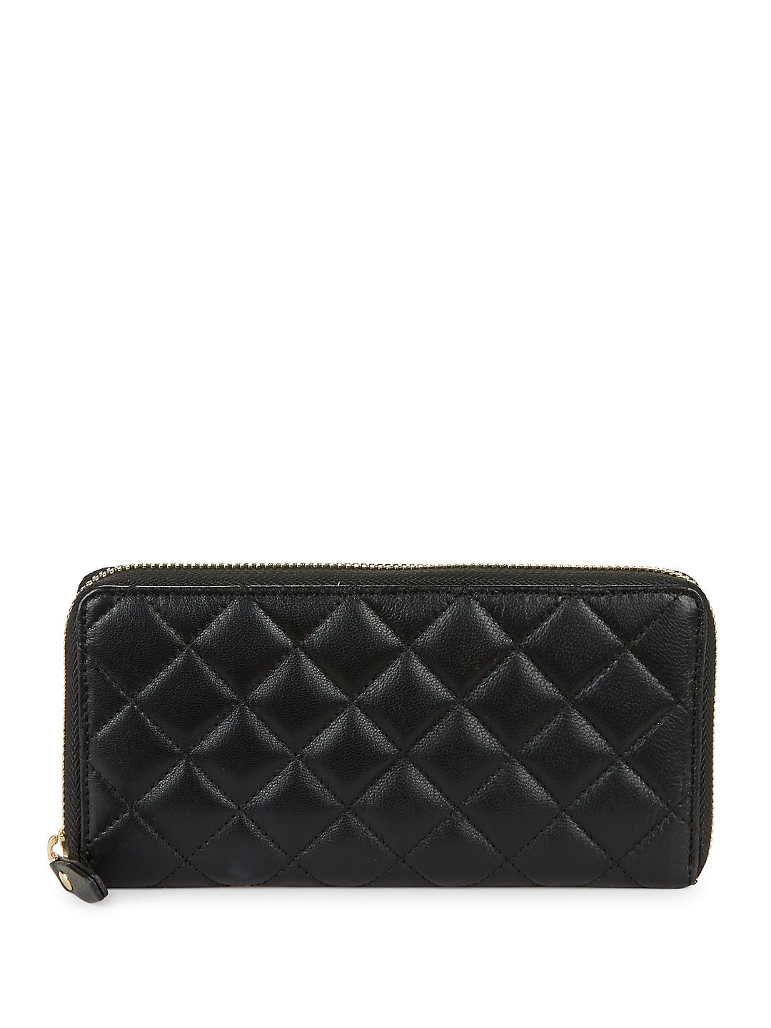 Quilted Zip-Around Wallet