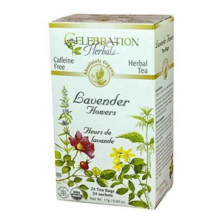 Celebration Herbals Fleurs Lavande Thé bio, 24 Ct