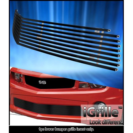 Fits 2010-2013 Chevy Camaro SS V8 Bumper Black Stainless Steel Billet Grille