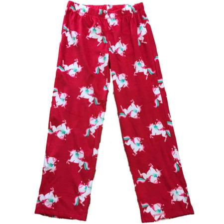 Flirtitude - Womens Santa Riding Unicorn Christmas Fleece Sleep Pants  Holiday Pajama Bottoms - Walmart.com f1a99e15e