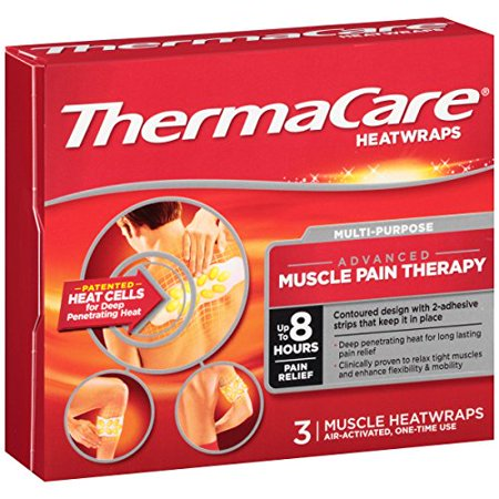 6 Pack ThermaCare Heat Wraps Advanced Muscle Pain Therapy 3 Wraps Each