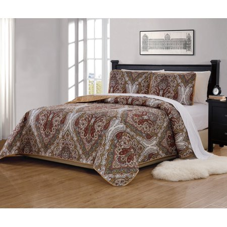 Fancy Linen 3pc King California King Bedspread Quilted