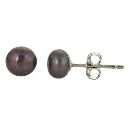 YGI SSE539CRAN Sterling Silver 6-7 mm. FWP Cranberry Button Stud - image 1 de 1