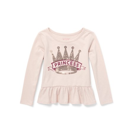 Baby And Toddler Girls Long Sleeve Peplum Top