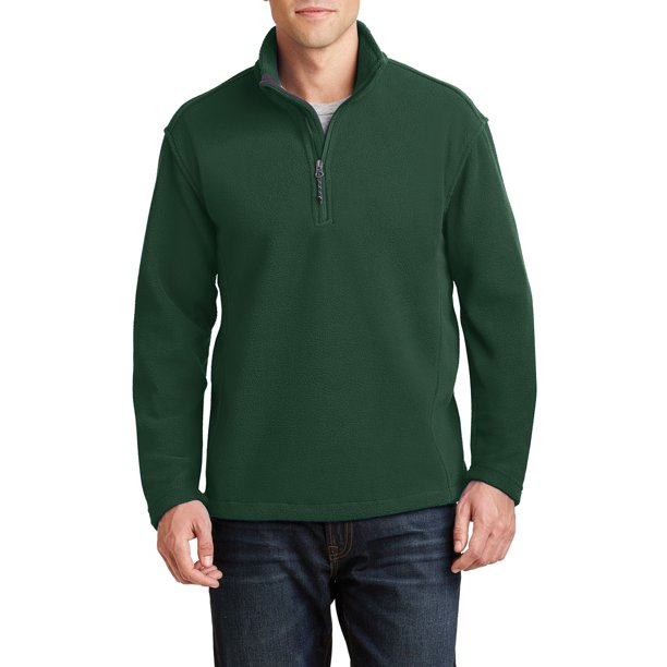 Mafoose Men's Long Sleeve Value Fleece 1/4-Zip Pullover Forest Green 3X-Large