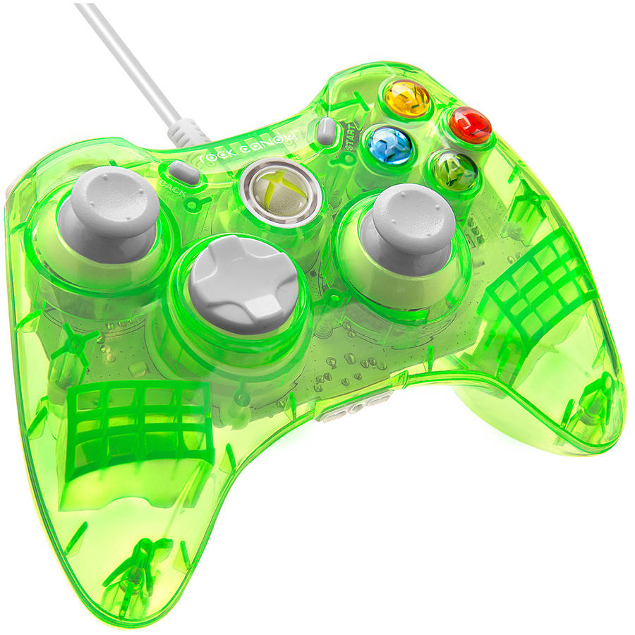Rock Candy 037-010-NA-RD Wired Controller, Green (Xbox 360) by PDP