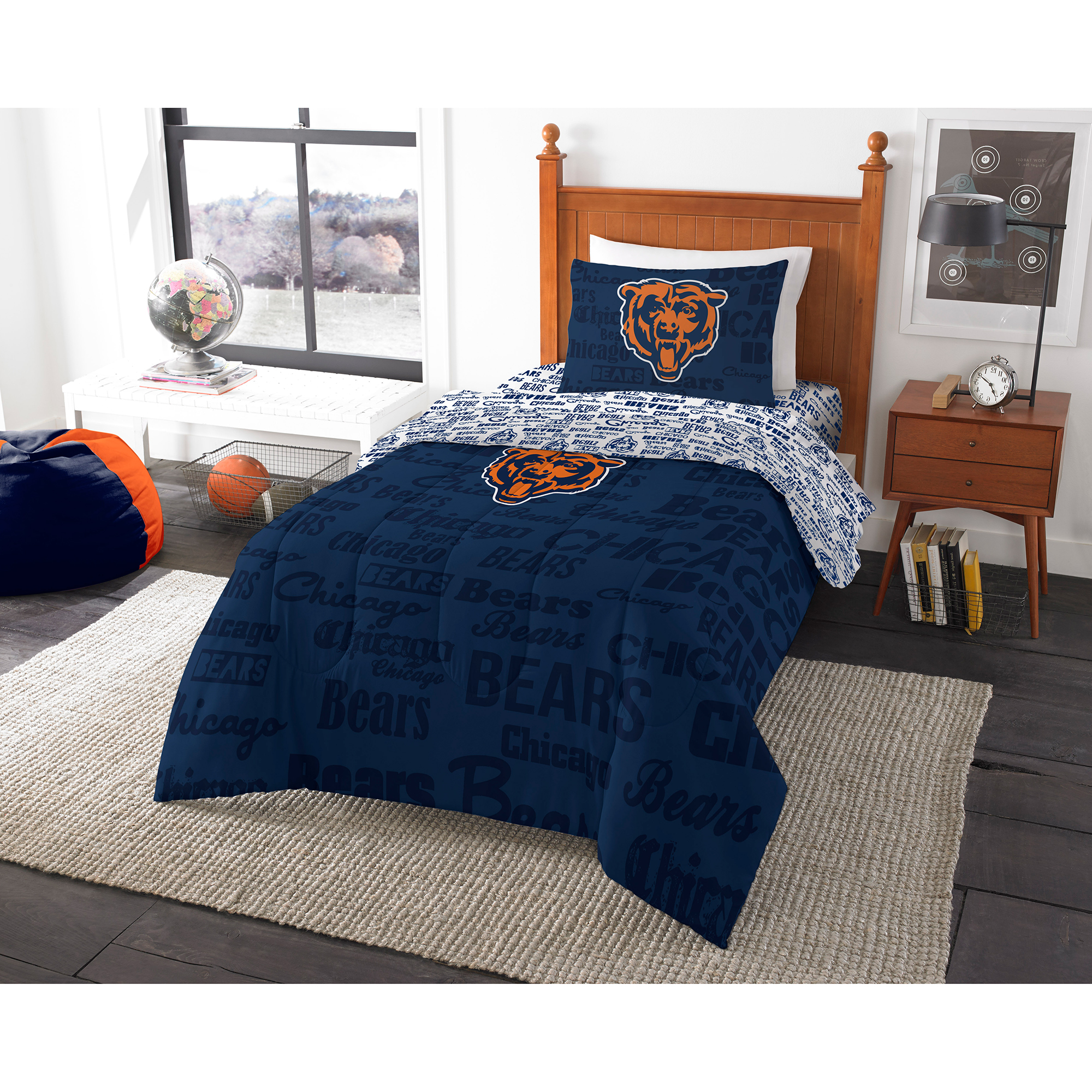 Nfl Chicago Bears Bed In A Bag Complete