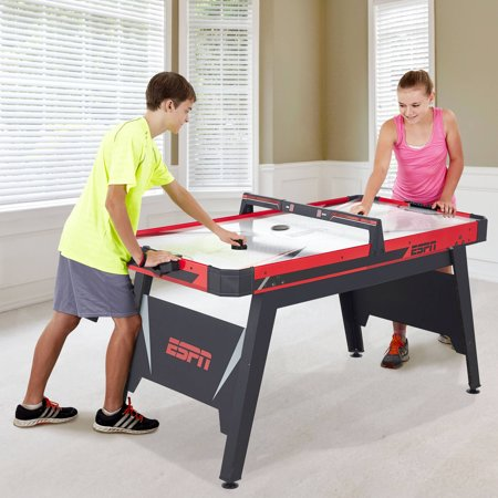 Espn 60 Inch Air Powered Hockey Table With Overhead Electronic Scorer