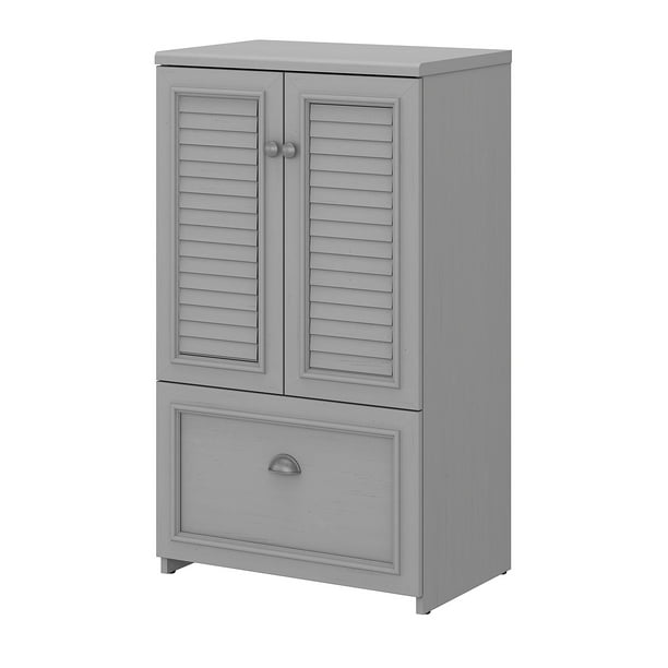 Bush Furniture Fairview 2 Door Storage Cabinet with File Drawer