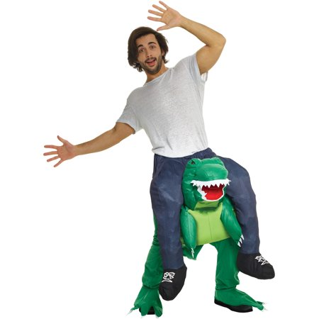 Blue Morphsuit Halloween Costume Ideas (Morphsuits Adult T-Rex Dinosaur Piggyback Adult Costume, Green Blue, One)
