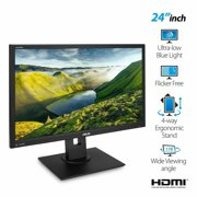 "ASUSPRO C624AQH 24"" Full HD 1920x1080 IPS DP HDMI DVI VGA Ergonomic Back-lit LED Monitor"