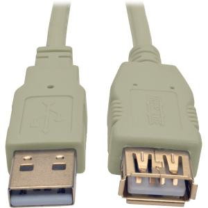 Tripp Lite 6ft USB 2.0 Hi-Speed Extension Cable (M/F), Beige