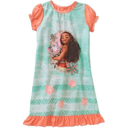 Moana Girls Short Sleeve Licensed Poly Sleep Gown