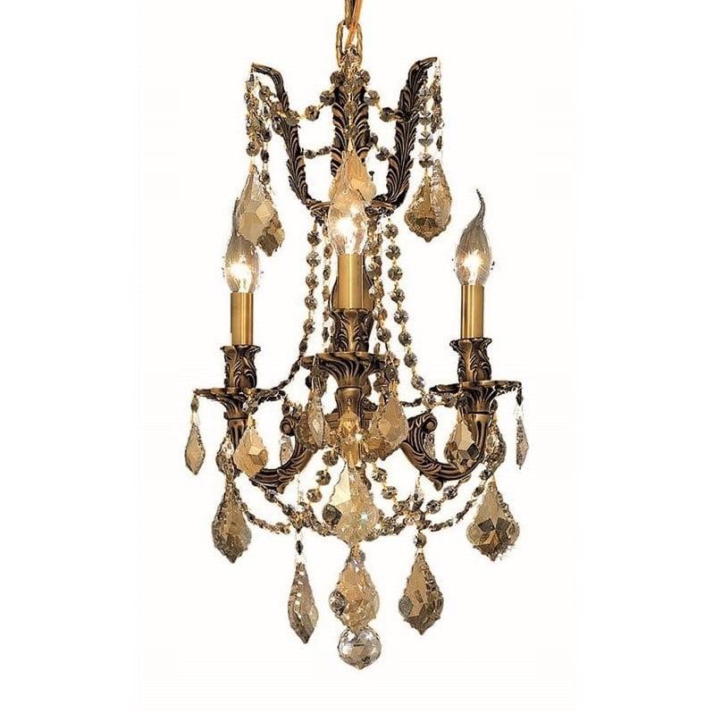 "Elegant Lighting Rosalia 13"" 3 Light Royal Crystal Chandelier - image 1 de 1"