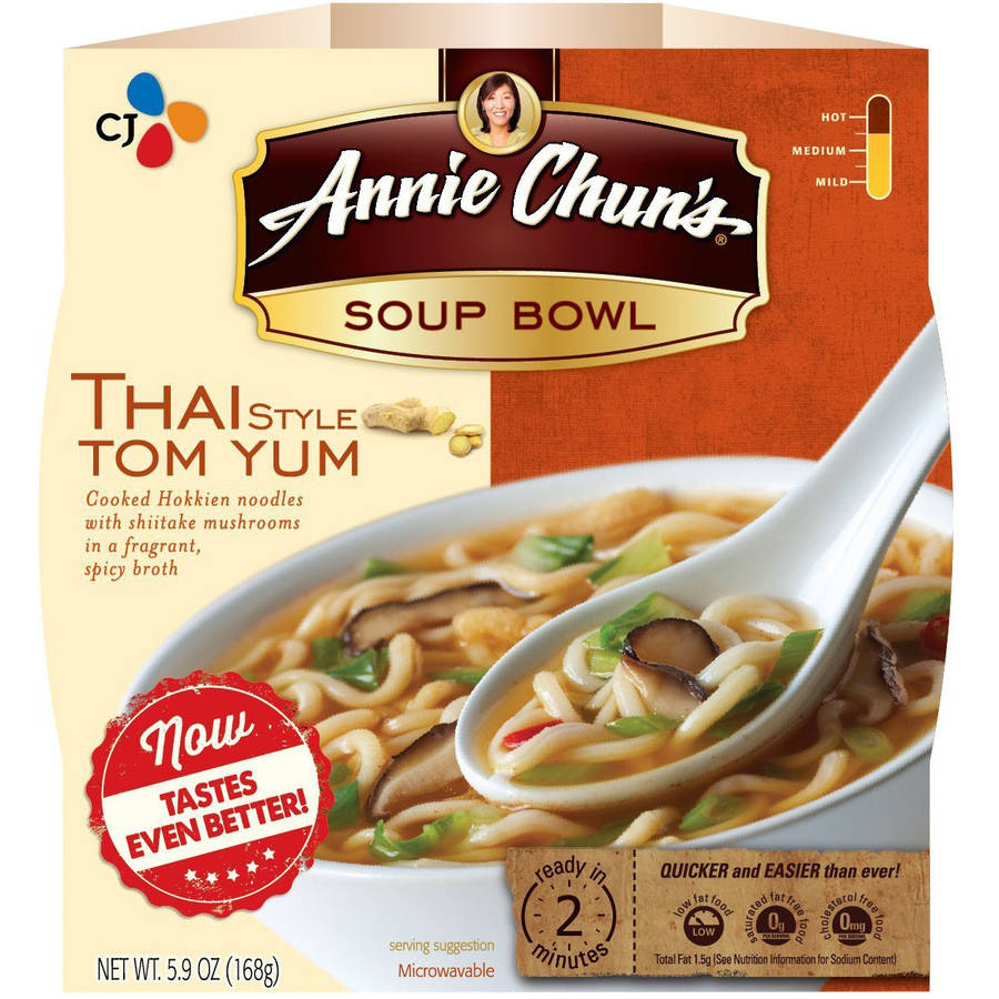 Annie Chun's Microwavable Soup Bowl, (Pack of 6 ), Multiple Flavors and Bowl Sizes Available