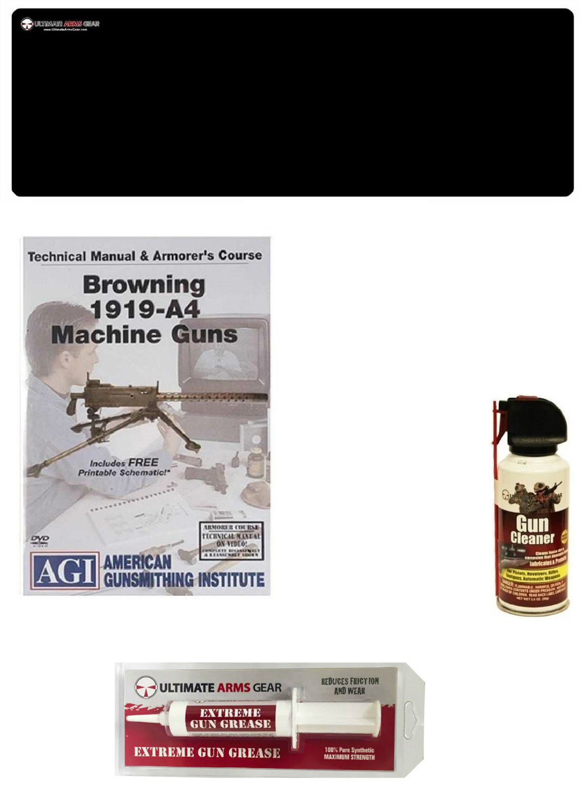 American Gunsmithing Institute DVD Manual & Armorer's Course Browning 1919-A4 Machine Gun + Ultimate Arms Gear Gunsmith... by