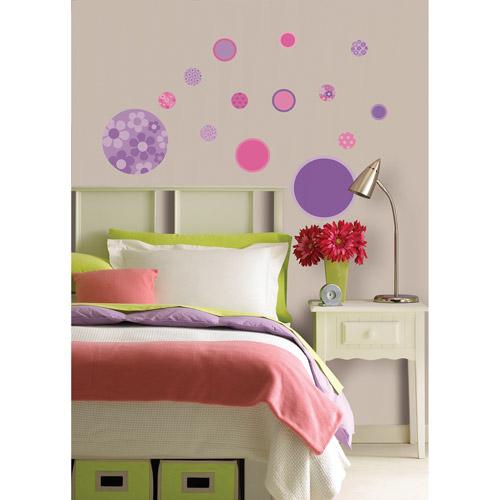 Wallpops Purple And Pink Gone Dotty Mini