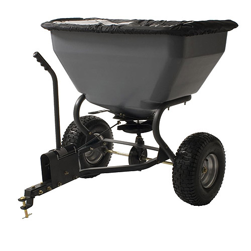 Precision 200-Pound ATV Tow-Behind Broadcast Spreader with 10' to 12' spread pattern